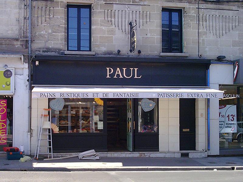 pose store boulangerie Gironde